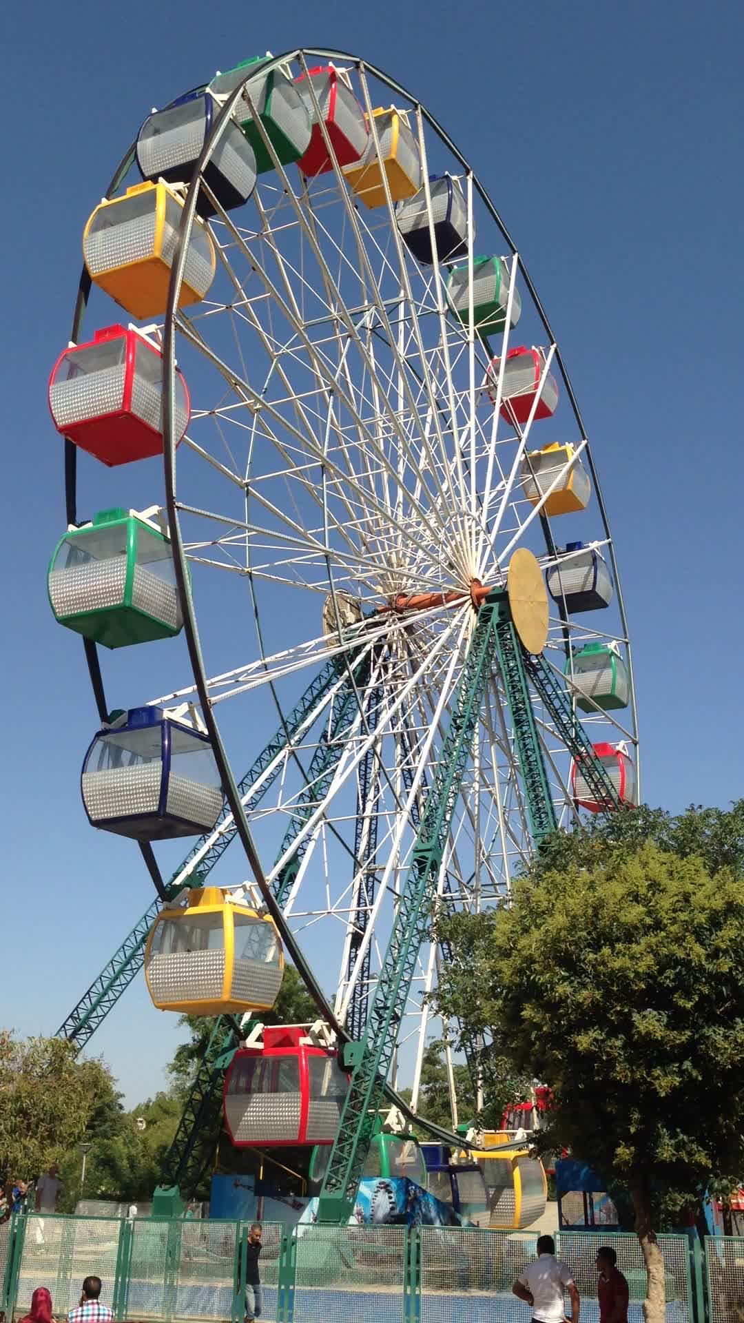 Parque temático Passeio de Parque de Diversões Roda Gigante 30 Medidor (30 m) Elétrico Roda Gigante