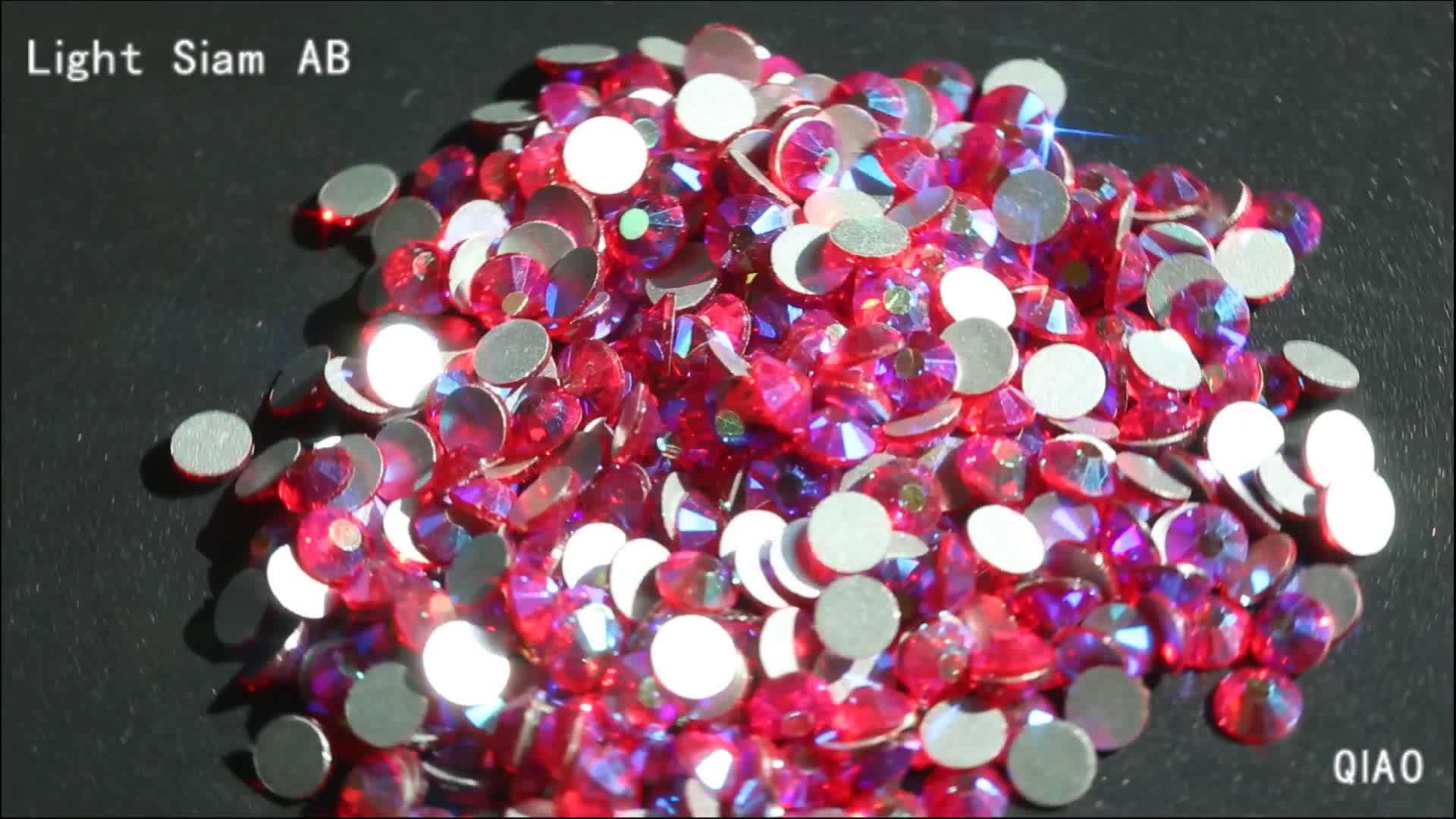 Tüm Renkler AB SS3-30 (1.3-6.5mm) Kristal Düz Geri Olmayan Düzeltme DMC Rhinestones Giyim Dekorasyon için Nail Art Rhinestones