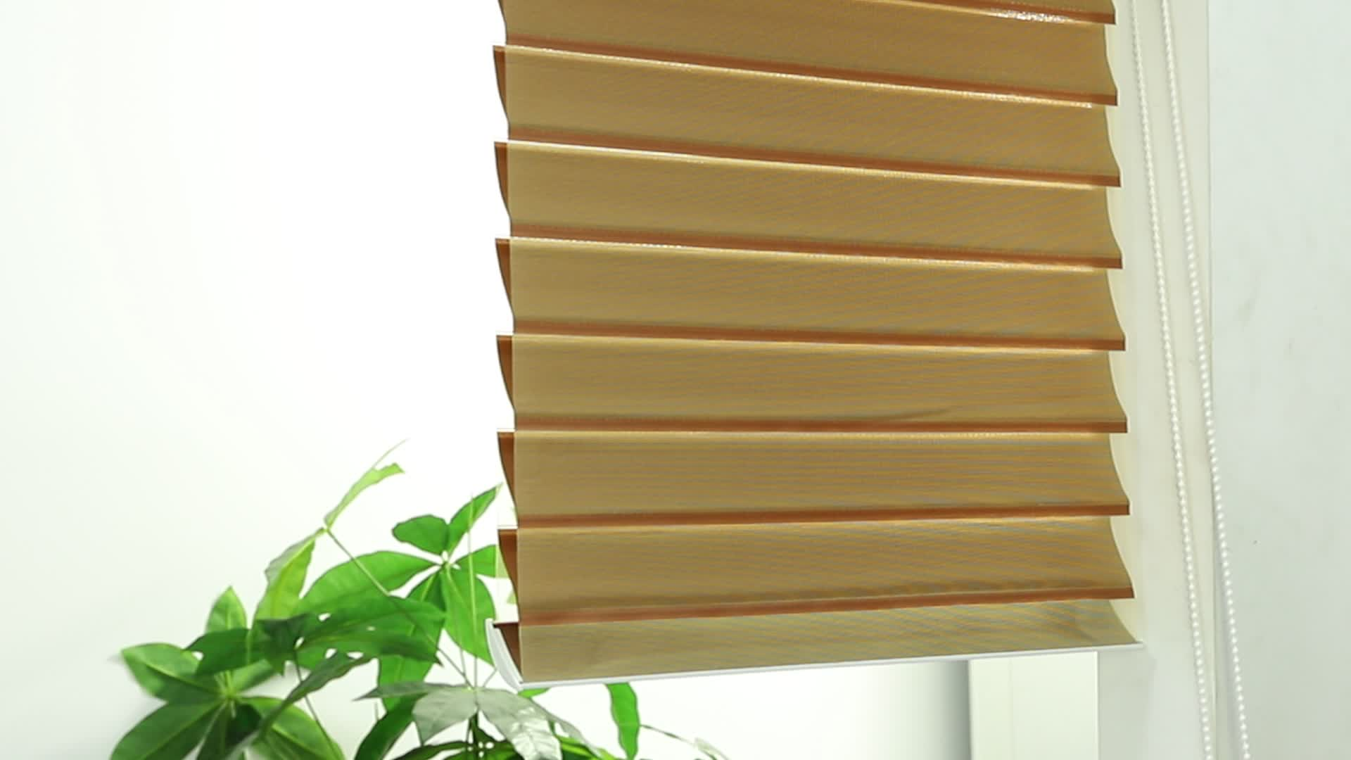 100% Polyester Fabric Blinds Windows Shangri-La Blind Office Curtains And Blinds