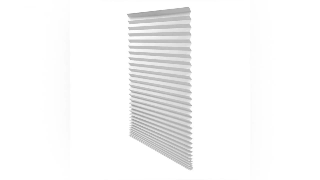 Свет фильтрации Затемненные окна украшения временные плиссированные нетканые слепой