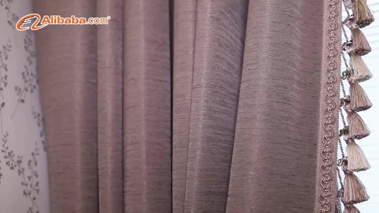 Bleu de luxe décor à la maison tissus d'ameublement rideaux de bureau et stores