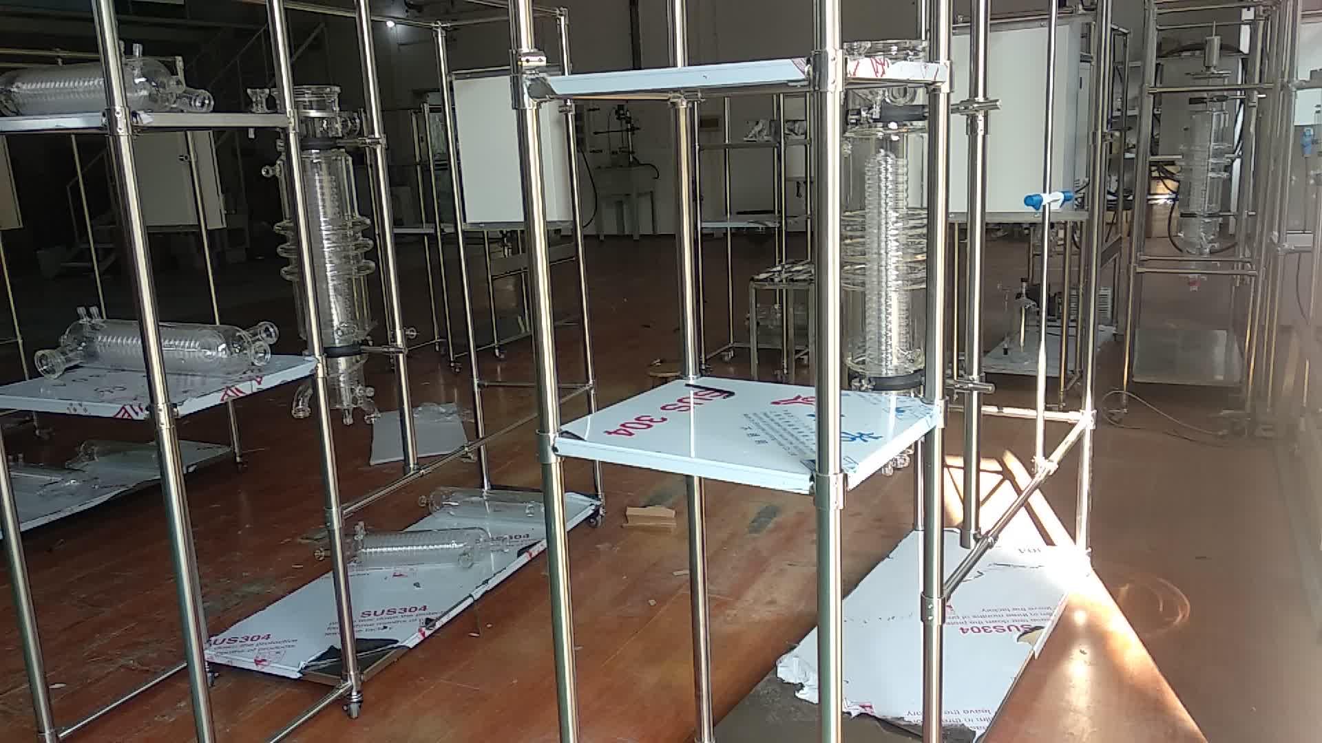 """Ätherisches öl destillation ausrüstung automatische arbeits 6 """"molekulare destillation gerät"""