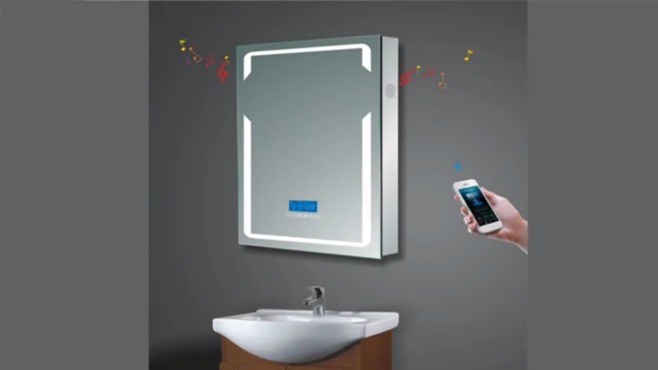 Modern Touch Screen Led Bathroom Smart Blue Tooth Mirror