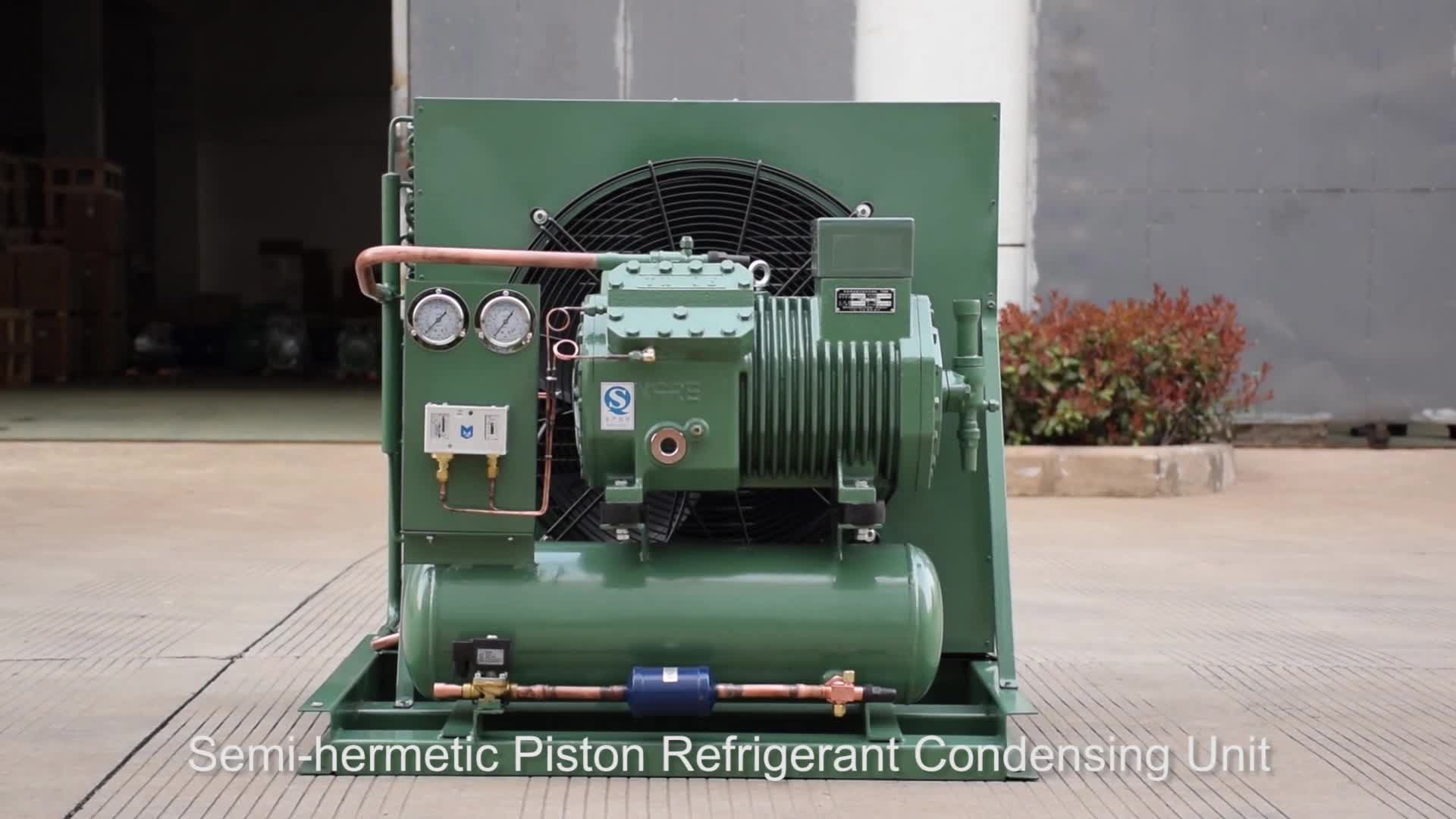 8.5HP low temperature piston type semi hermetic cylinder refrigeration compressor