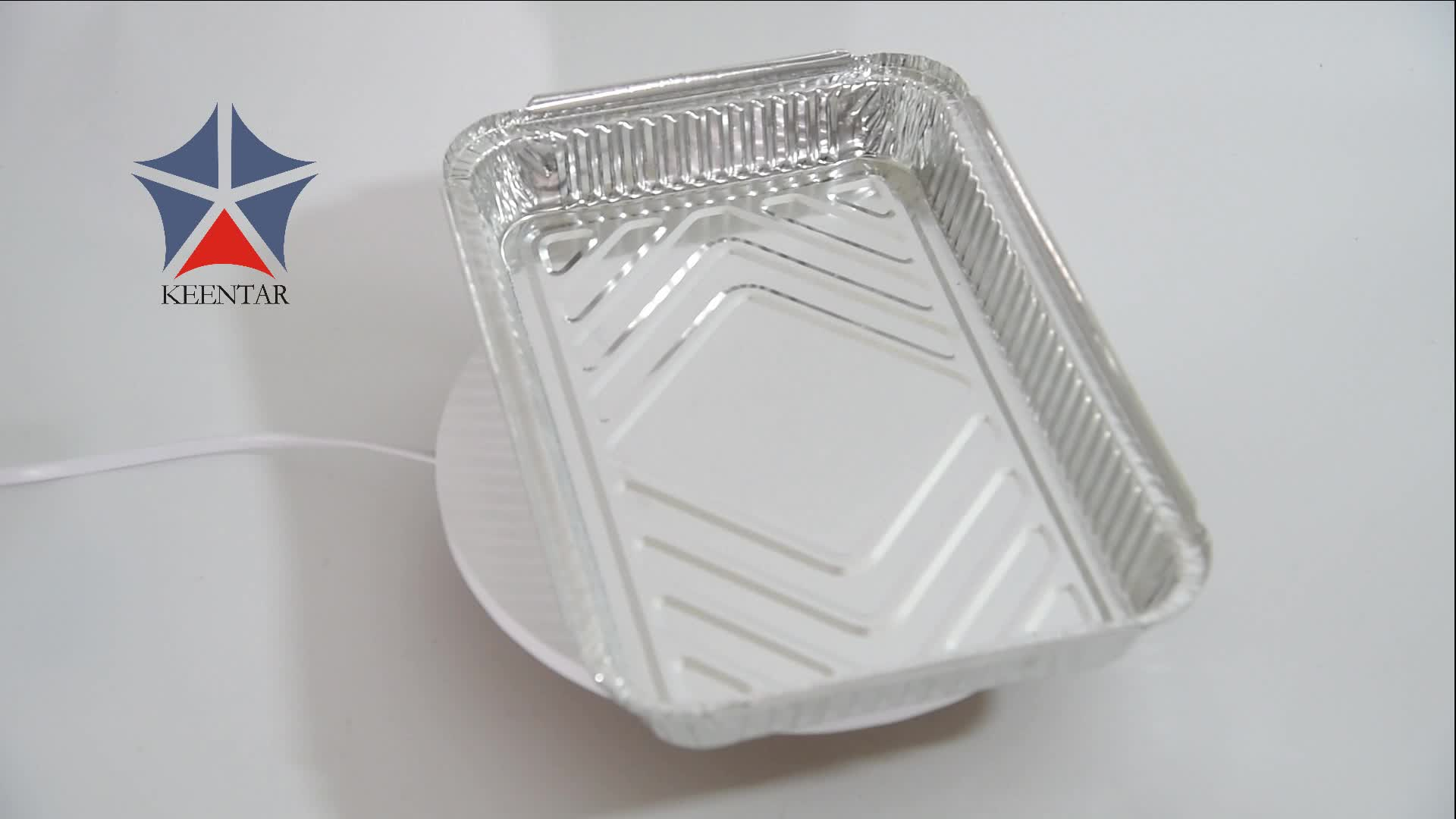 fast food aluminum foil container with lid
