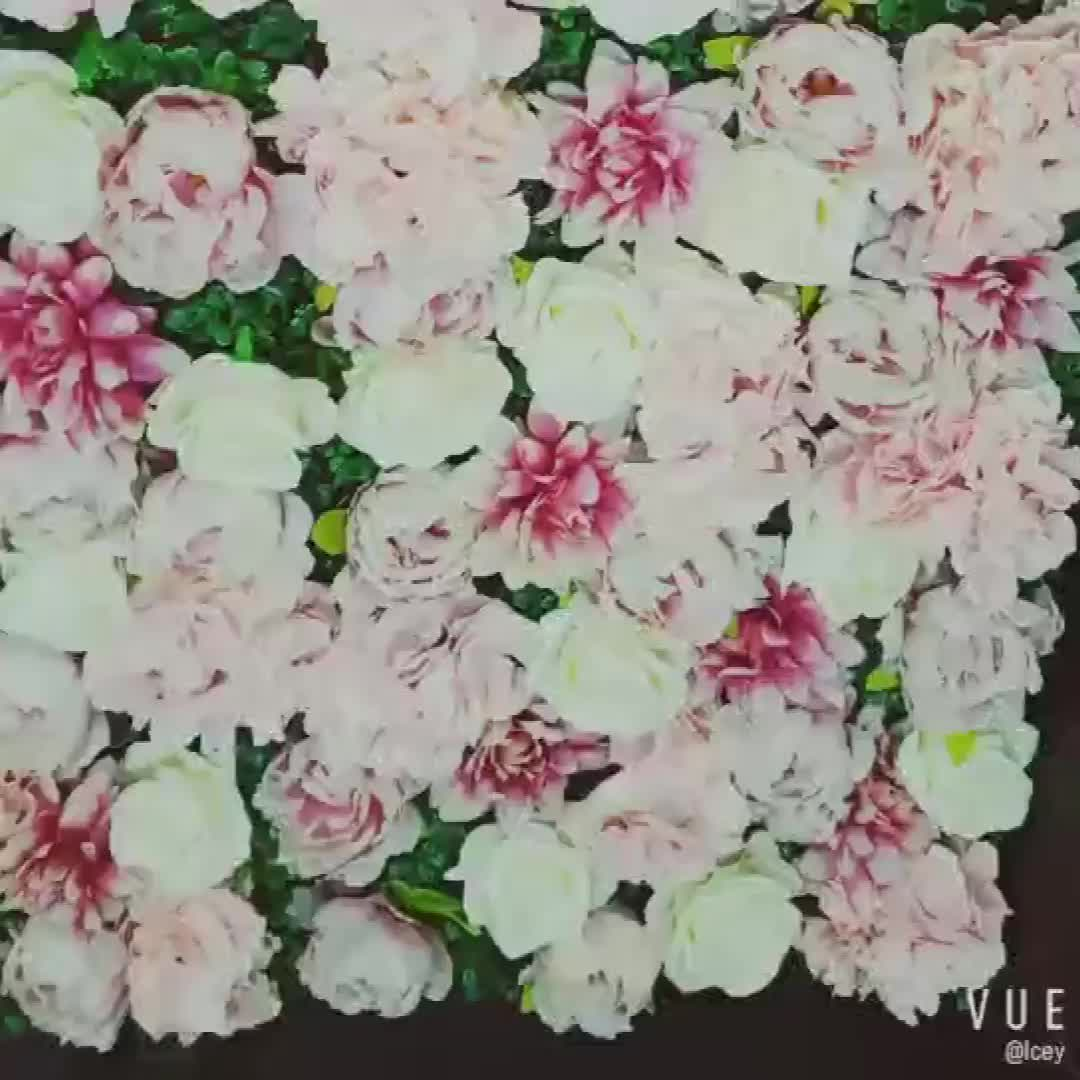 Shininglife Brand High quality artificial silk rose hydrangea peony wedding artificial flower wall panel