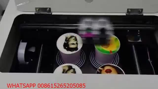 Il trasporto libero 4 tazze di caffè latte art di stampa della stampante macchina per il caffè macchina da stampa CE Approvato