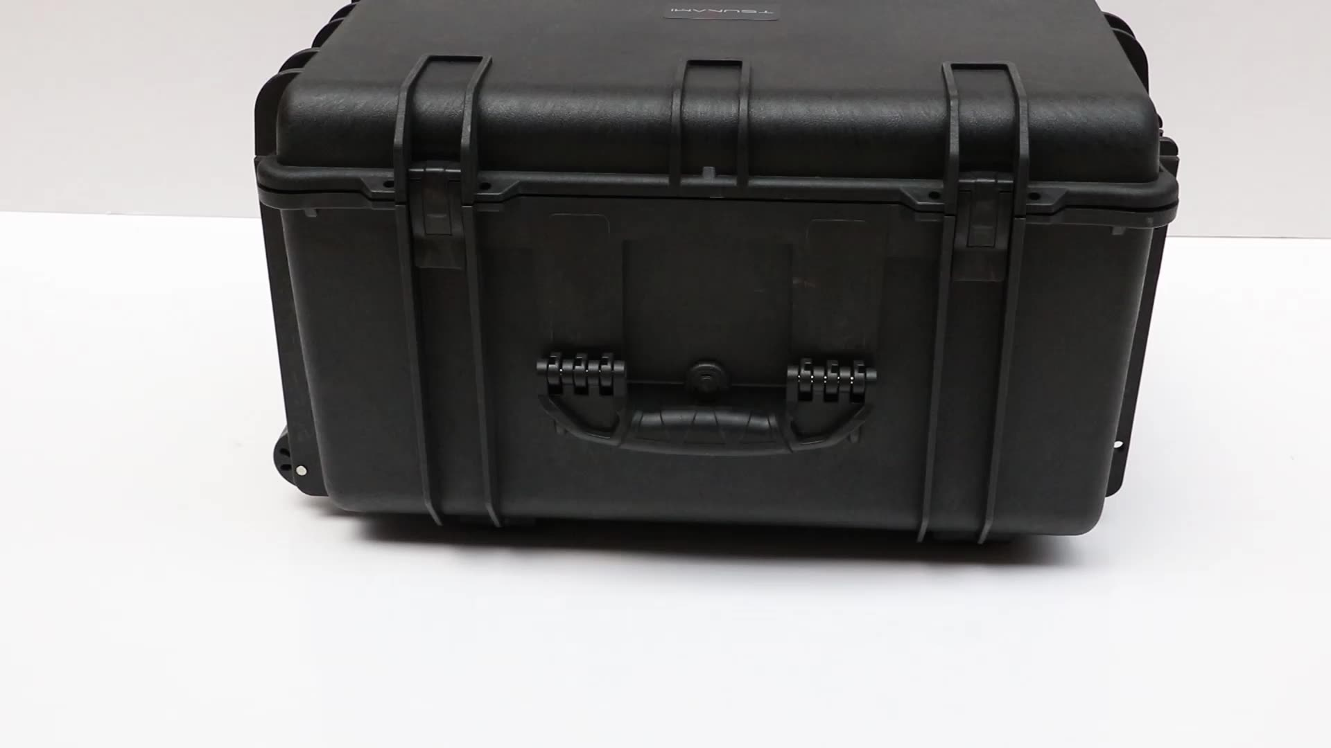 Factory Customized hard IP67 plastic large travel suitcase trolley tool case with wheels and handle and foam 1730