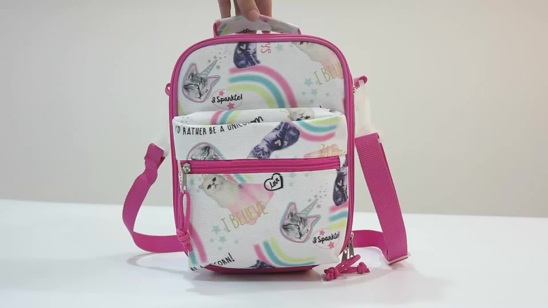 China insulated lunch cooler bag,wholesale school girls lunch bag