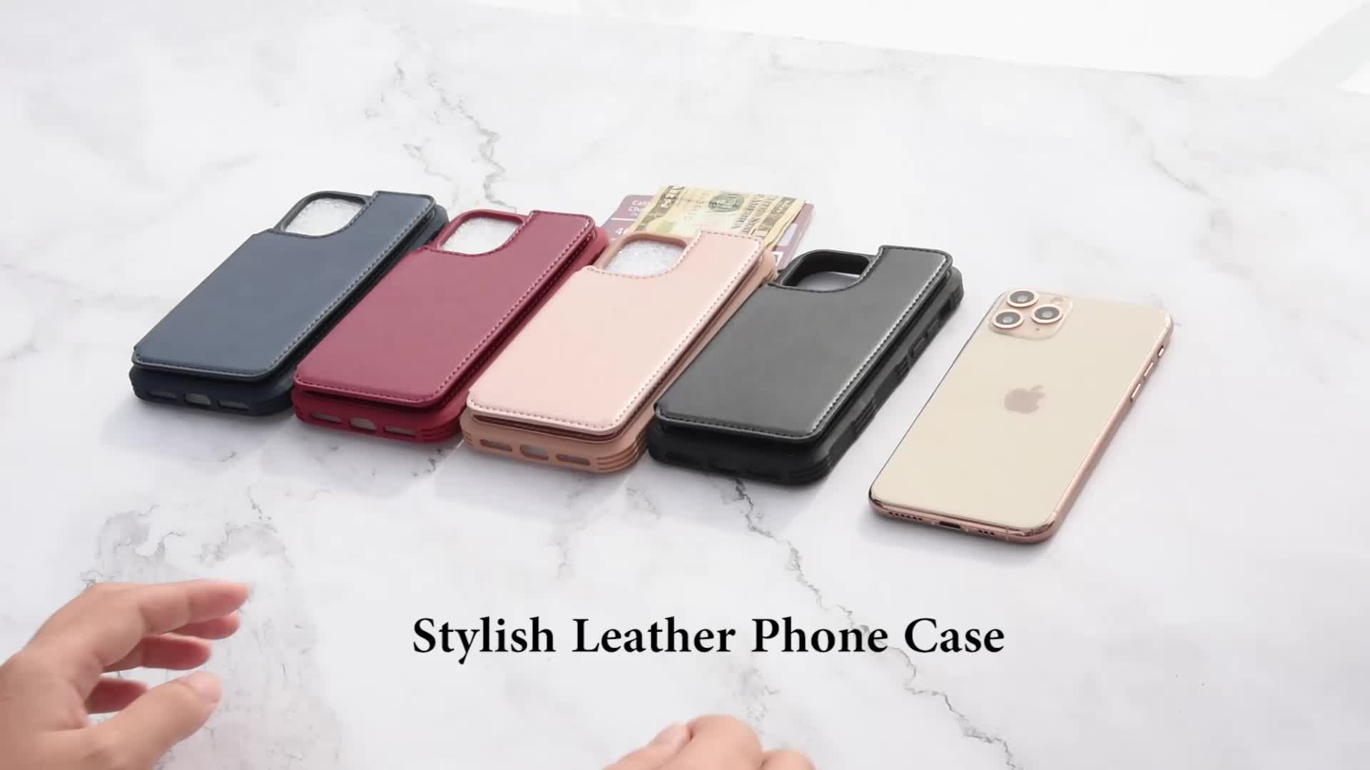Factory OEM PU Leather Mobile Phone Cover Pouch Flip Leather Phone Wallet Case For iPhone XR Case