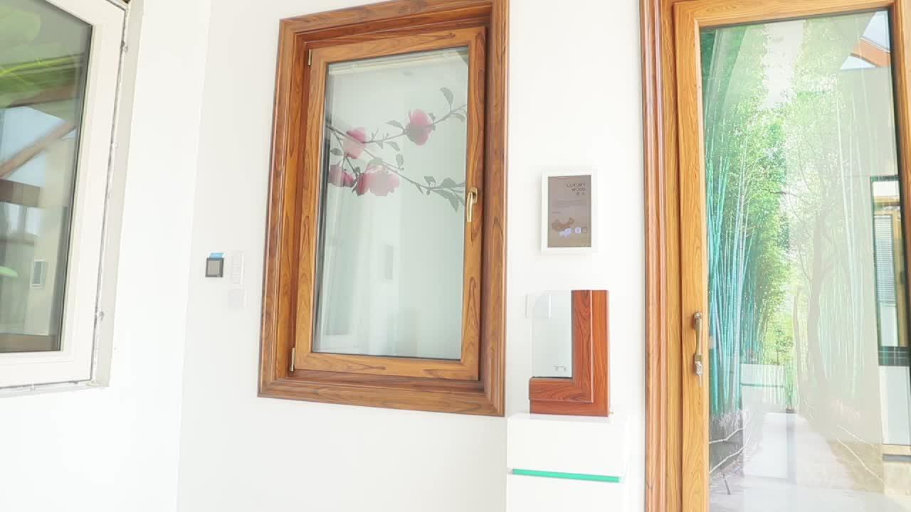 wood clad aluminium  tilt & turn windows wooden latest window