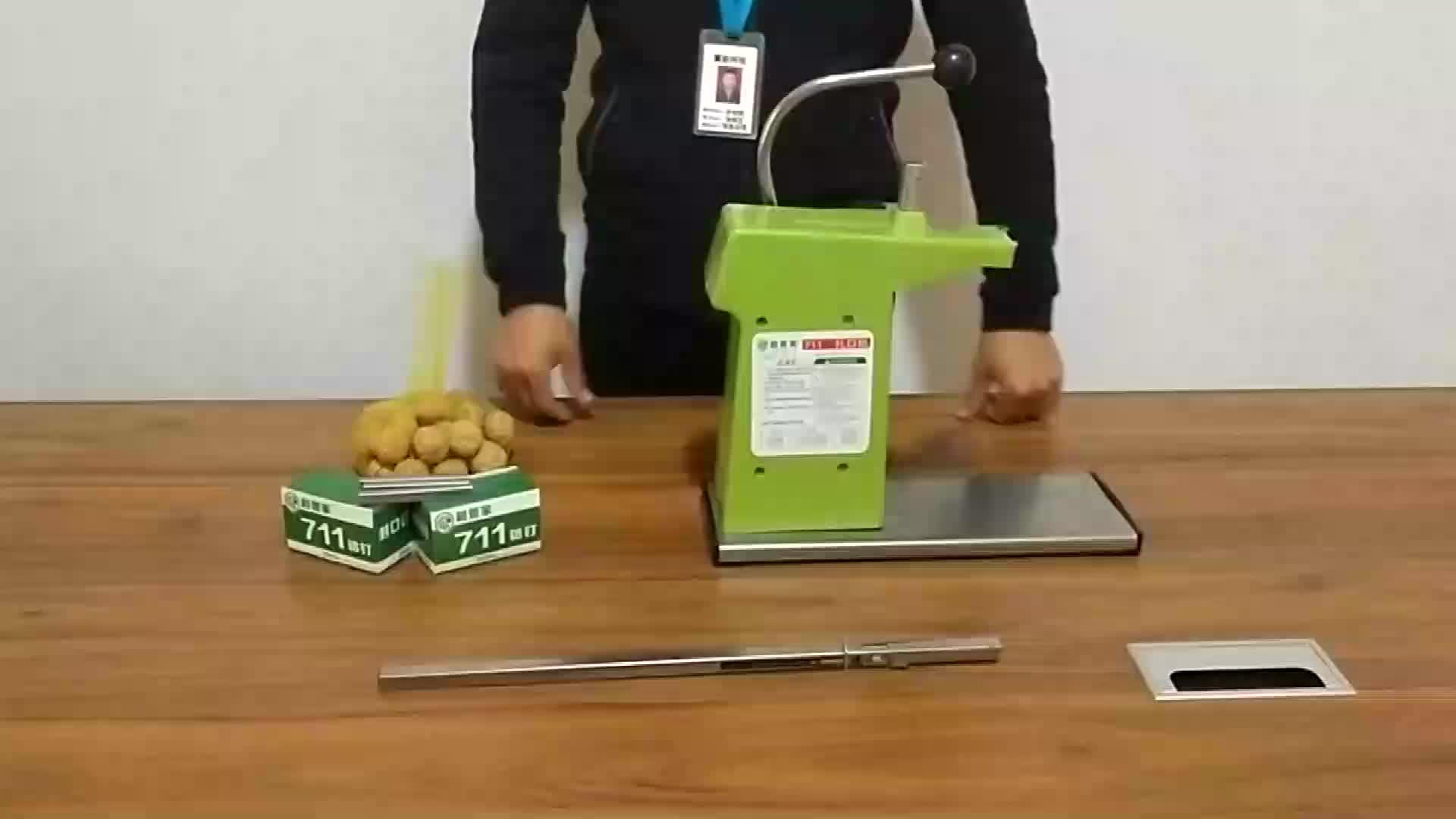 Fabrik preis Berühmte Chinesische marke Aluminium nail hand bedienung binden maschine nägel für supermarkt