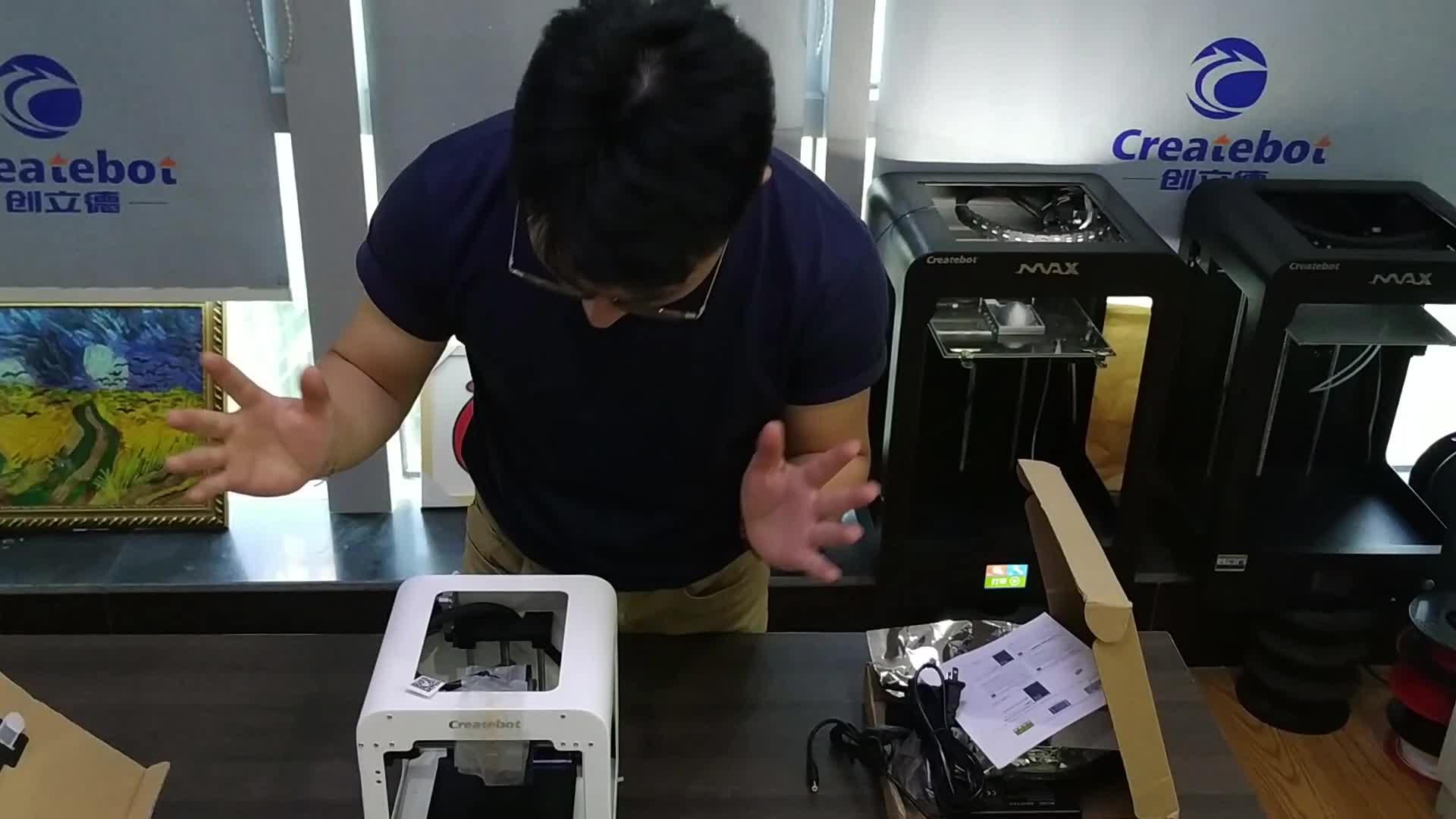 Cina prezzo a buon mercato casa scuola desktop Stampante Createbot mini metallo 3D Macchina da Stampa 3D con Touchscreen e Estrusore