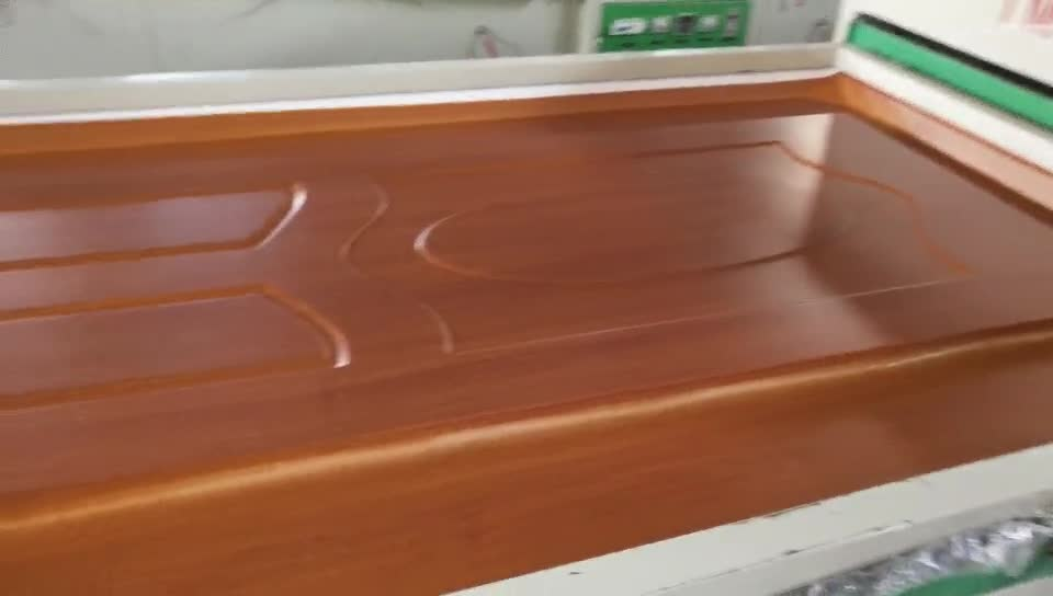 Multi functional  automatic PVC film Vacuum Membrane Press laminating machine for MDF cabinet door with two tables