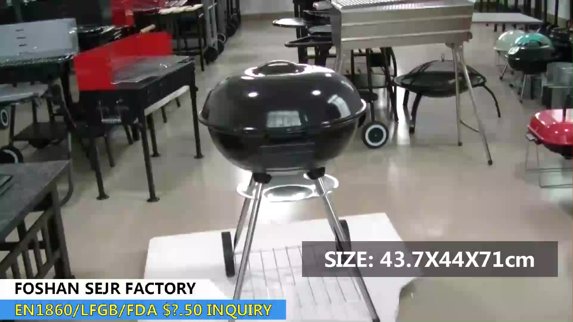 SEJR 17 Inch Zwarte Houtskool Ketel BBQ Grill Weber Barbecue Grill 43.7X44X71 cm