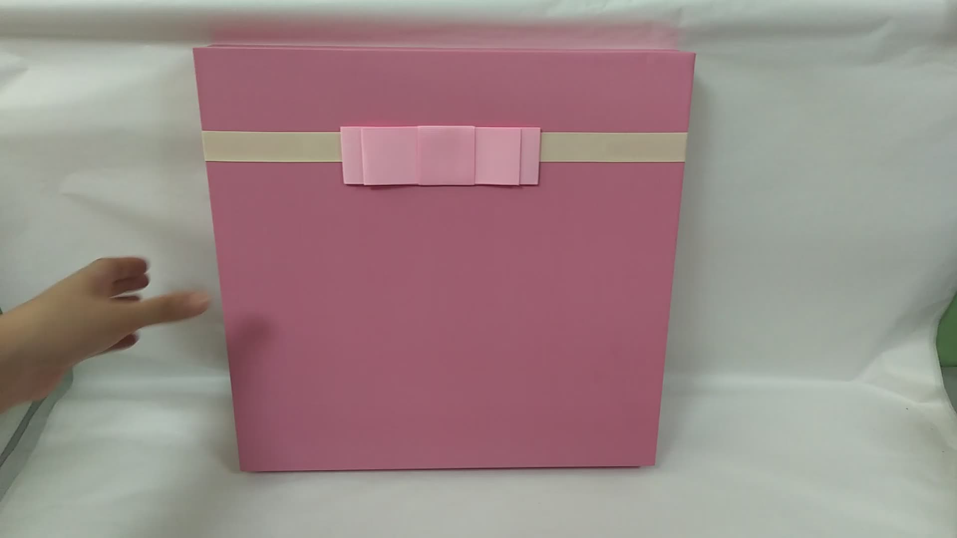 Customizable big pink cardboard large blank clothes apparel garment packaging gift box