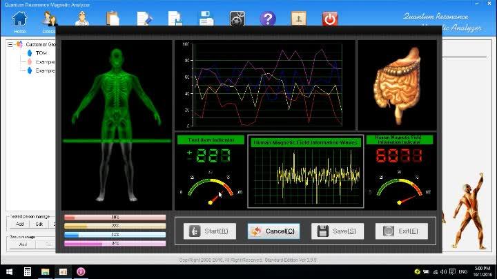 2018 la terapia de masaje digitales 5rd cuántica Analizador de resonancia magnética