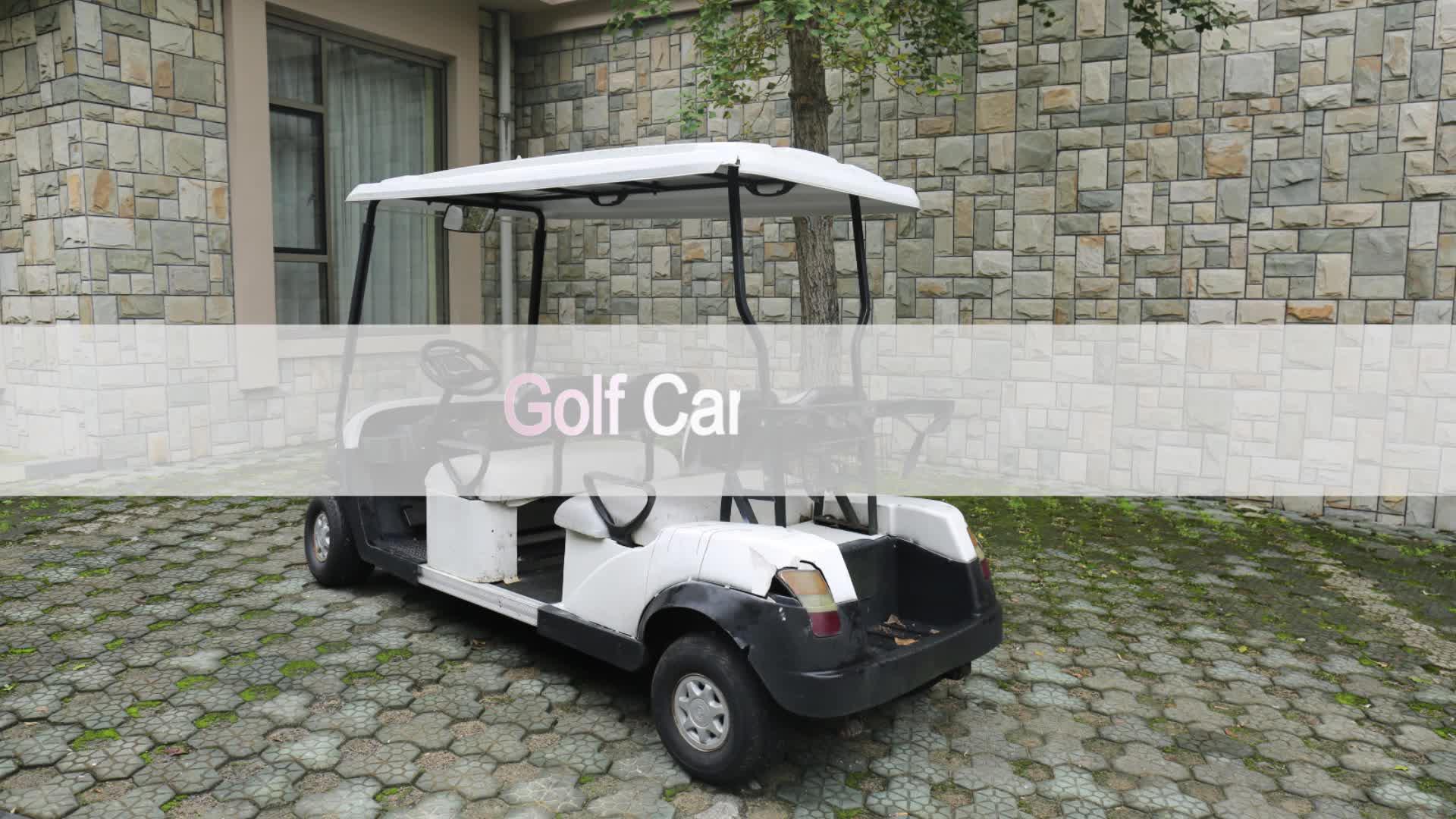Super-heldere PVC venster Gemodificeerde 2-4 Passenger Golf Auto Behuizing Cover EZ go Golfkar Regenhoes