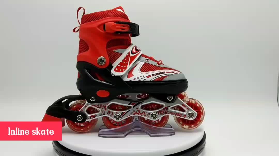 2019 new design figure skate shoe kid adjustable inline skate professional kids electric quad inline skate