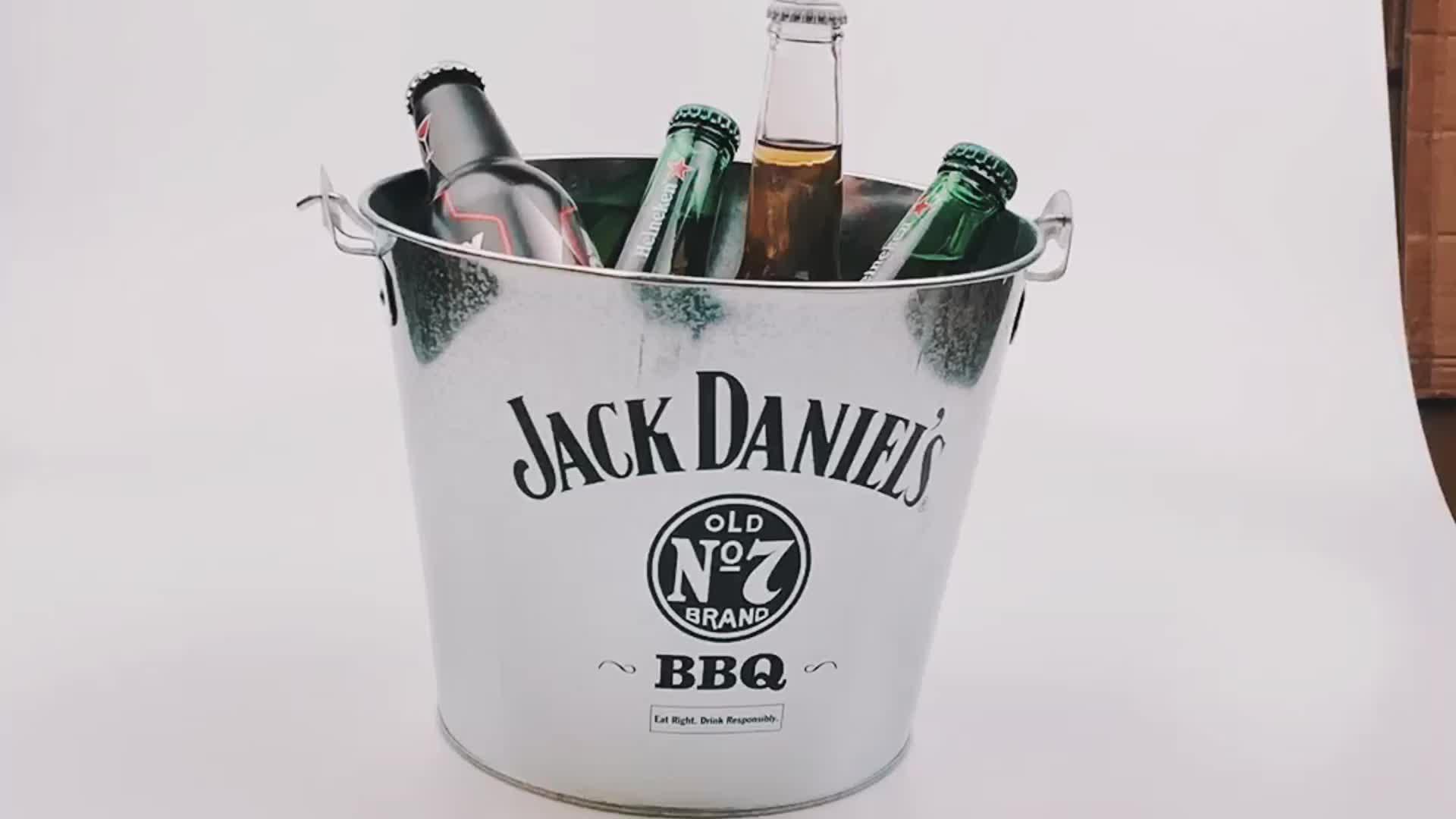 5.5L tin wine galvanized iron corona beer ice bucket metal for promotions