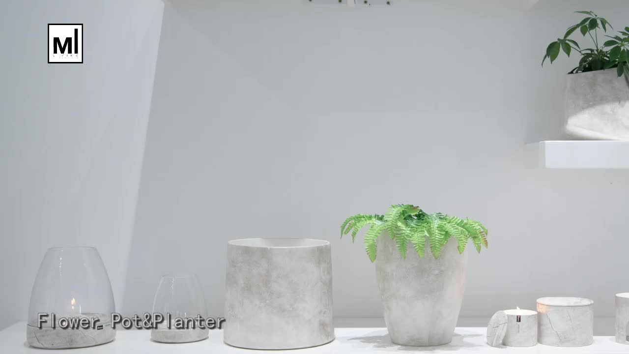 Personalized design cheap natural style home decor planter / ceramic flower pot