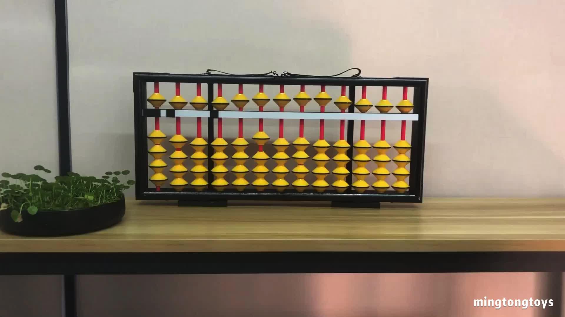 रंग शैक्षिक गणित खिलौने लकड़ी के मनकों Soroban 13 लूटता शिक्षक चीनी बड़े अबैकस