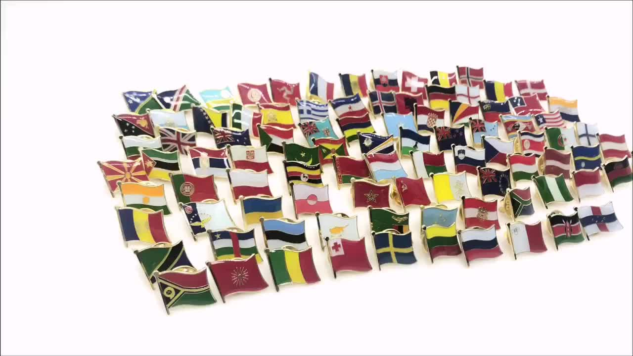 Factory made wholesale cheap world flag badges