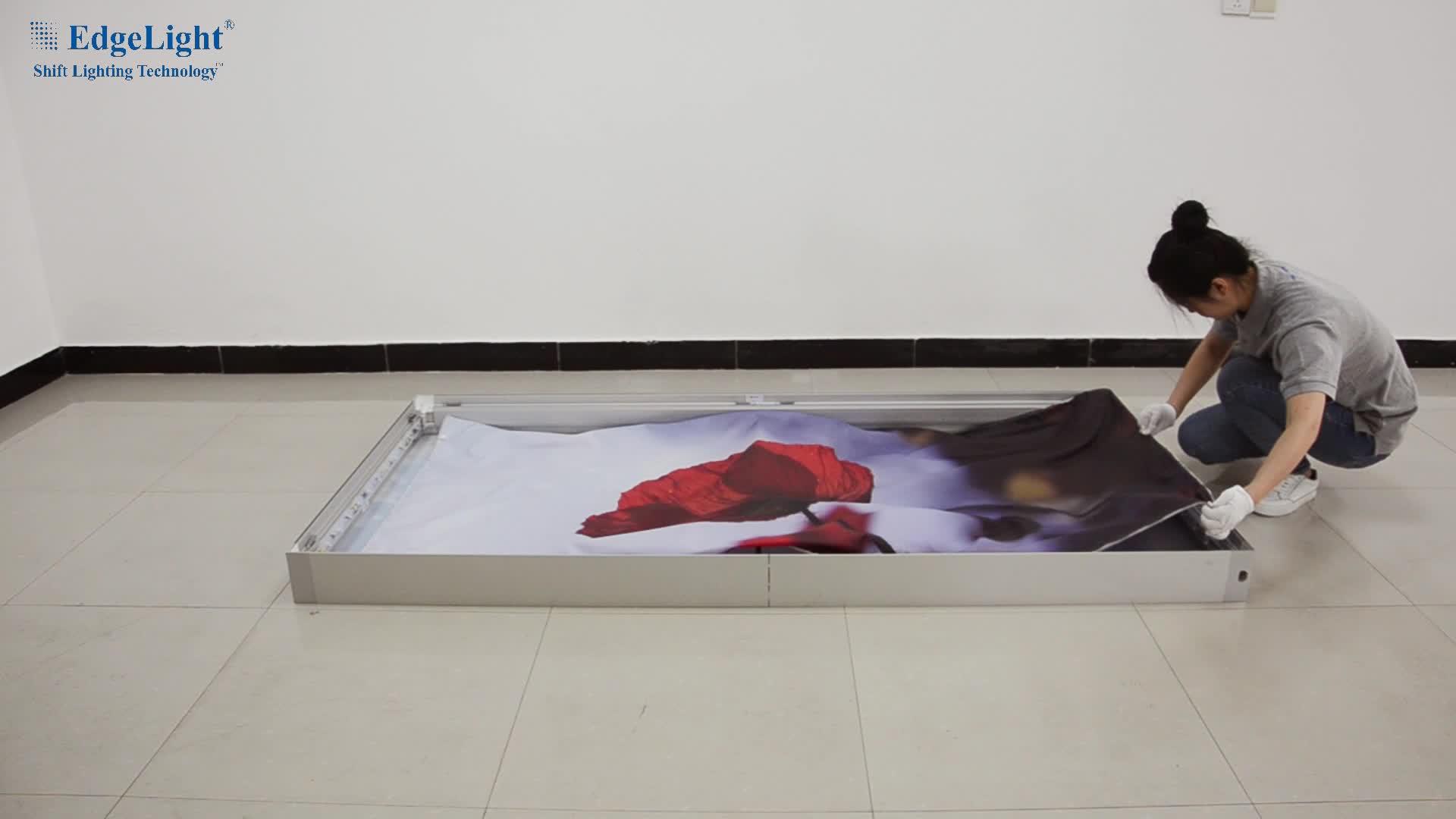 Edgelight AFEZ реклама свет коробка 1*2 м светодиодные рамки двойные стороны знак
