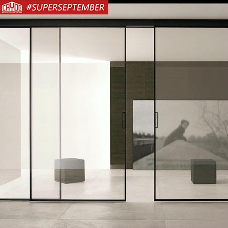 알루미늄 안전 강화 유리 슬림 프레임 그릴 디자인 파티션 벽 욕실 샤워 슬라이딩 도어