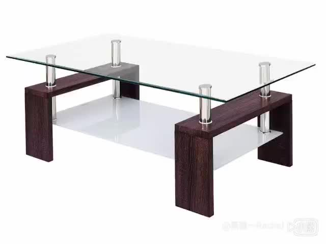 Contemporary Raised Glass Coffee Table wood chinese