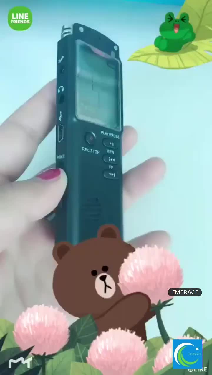 Hifi portátil dedução de ruído de gravação Digital spy microfone gravador de voz 8 GB 1536 kbps