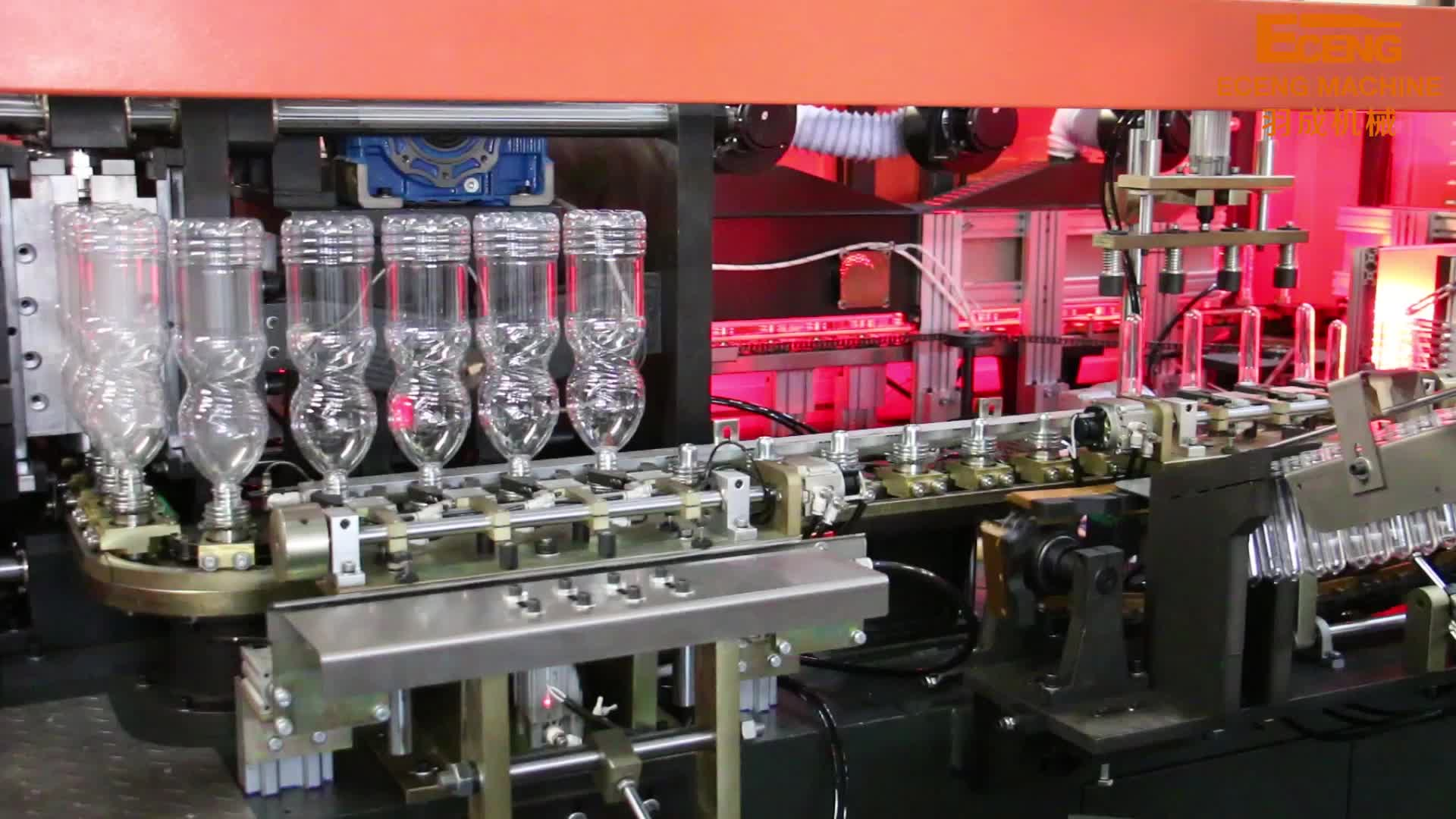 4 cavities 6000bph high speed fully automatic pet bottle blowing machine