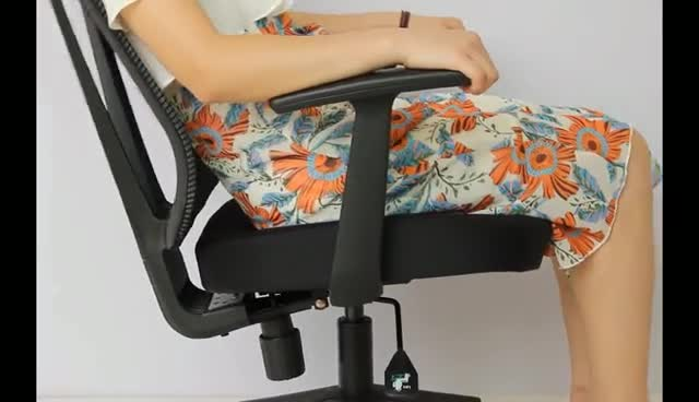 Adjustable small office chair with arms for staff