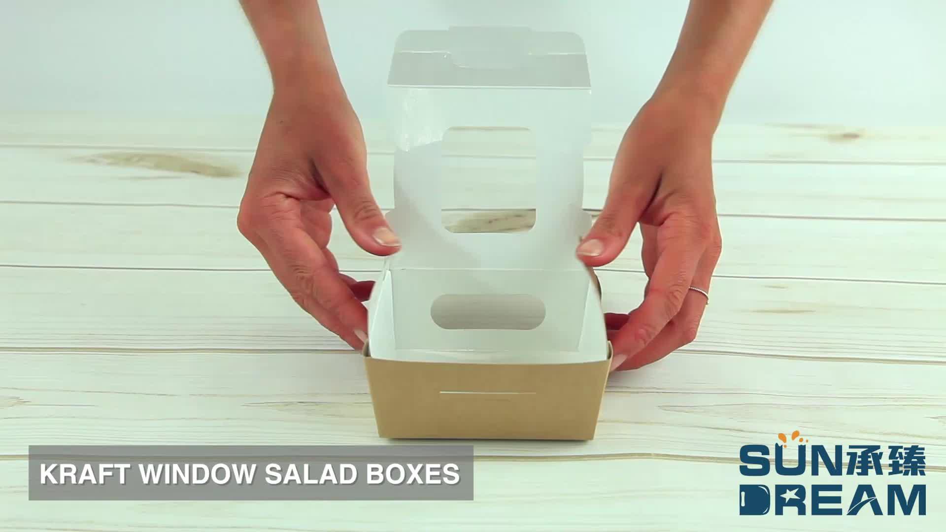 De grado de alimentos de comida rápida espaguetis pasta kraft caja de papel contenedor con logotipo