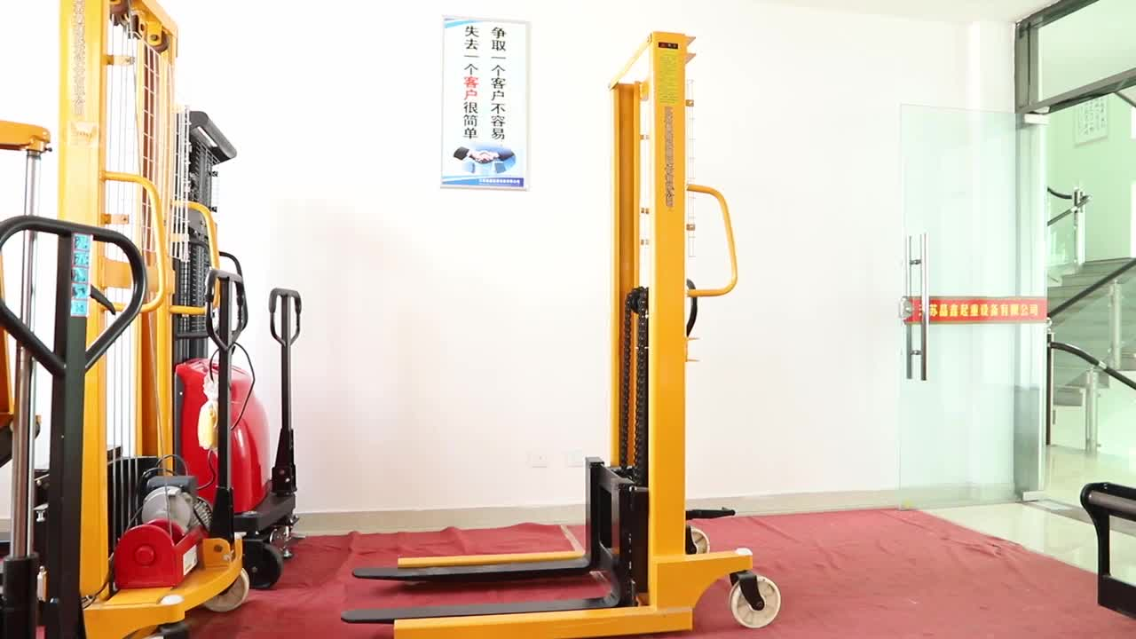 Hydraulic Forklift Manual Stacker For Sale