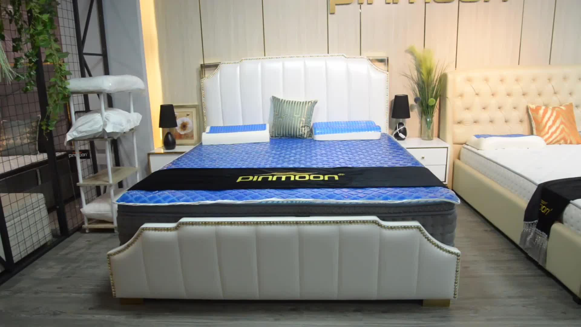 2019 yeni modern kral lüks deri odası mobilya yatak odası yatak takımı