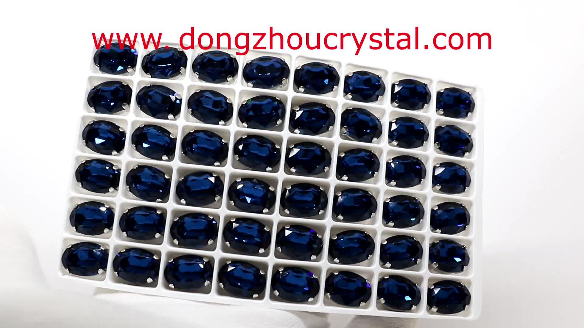 Top Sale Crystal Rhinestone Oval Shape Beads For Jewelry Making