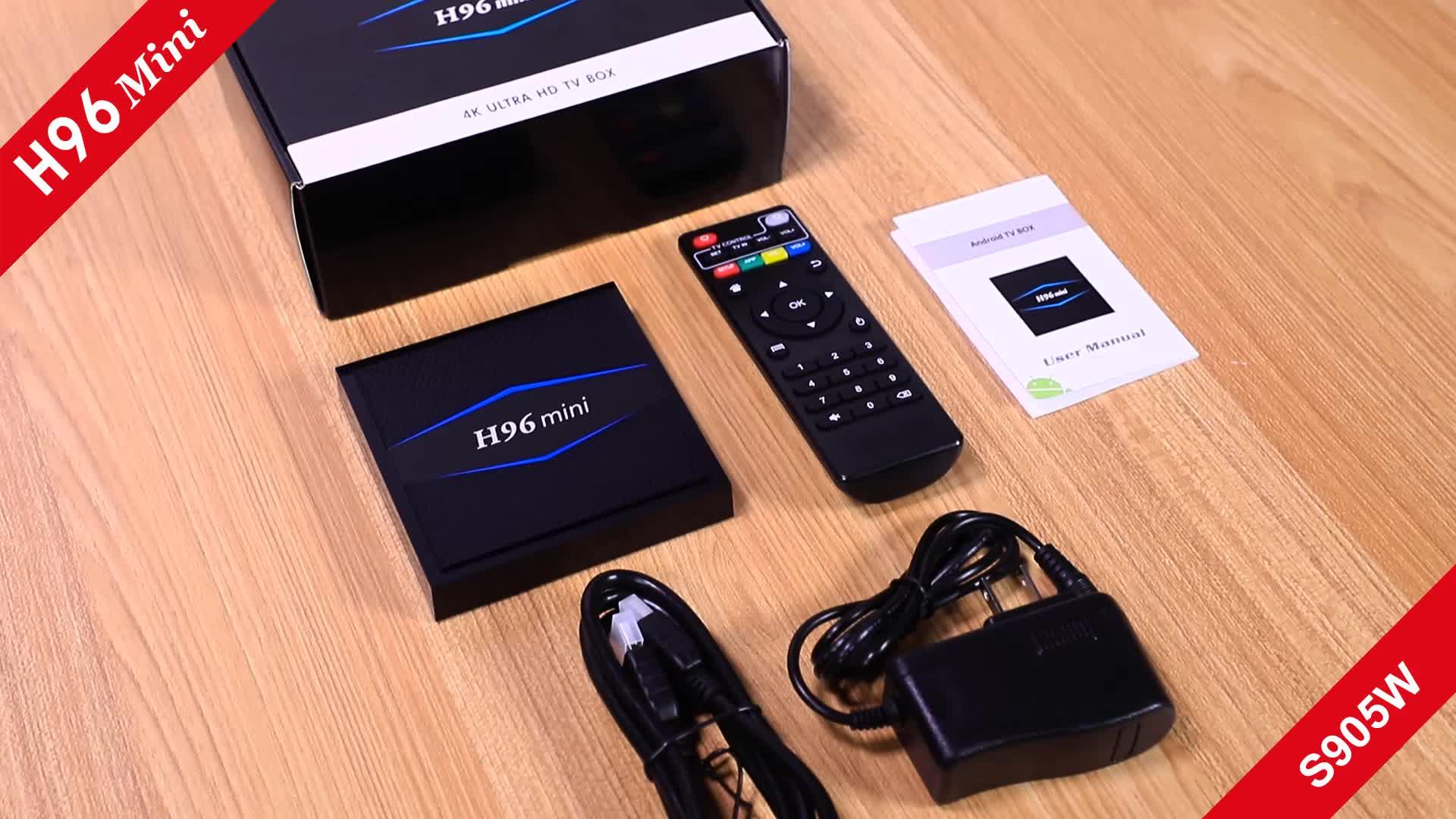 Nuovo arrivo 2018 media player H96 mini 2 gb/16 gb dual wifi BT4.0 amlogic s905w android tv box h96mini