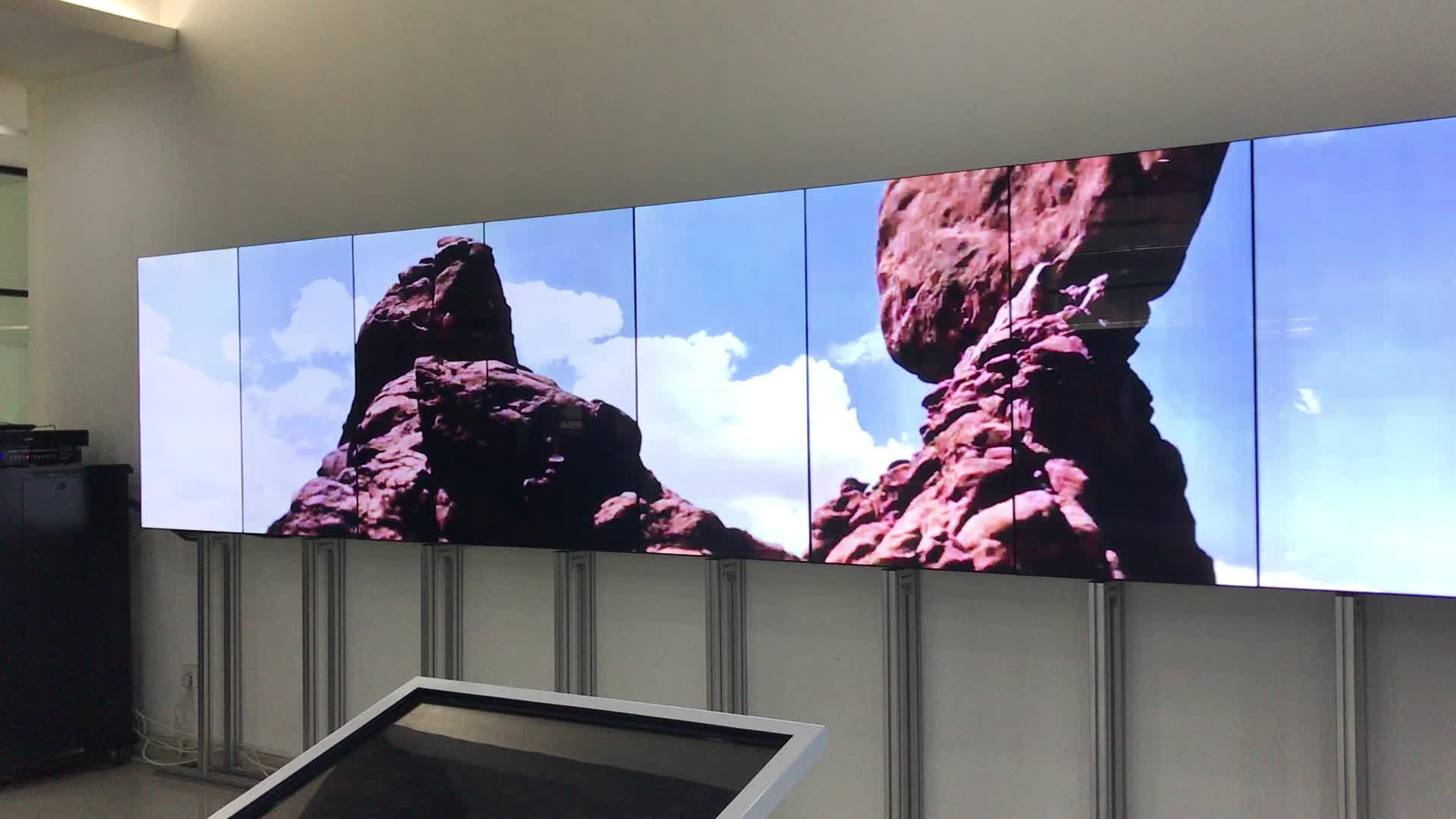 55 polegadas 4x4 ultra narrow bezel montagem videowall publicidade tv monitor multi screen display de parede de vídeo lcd