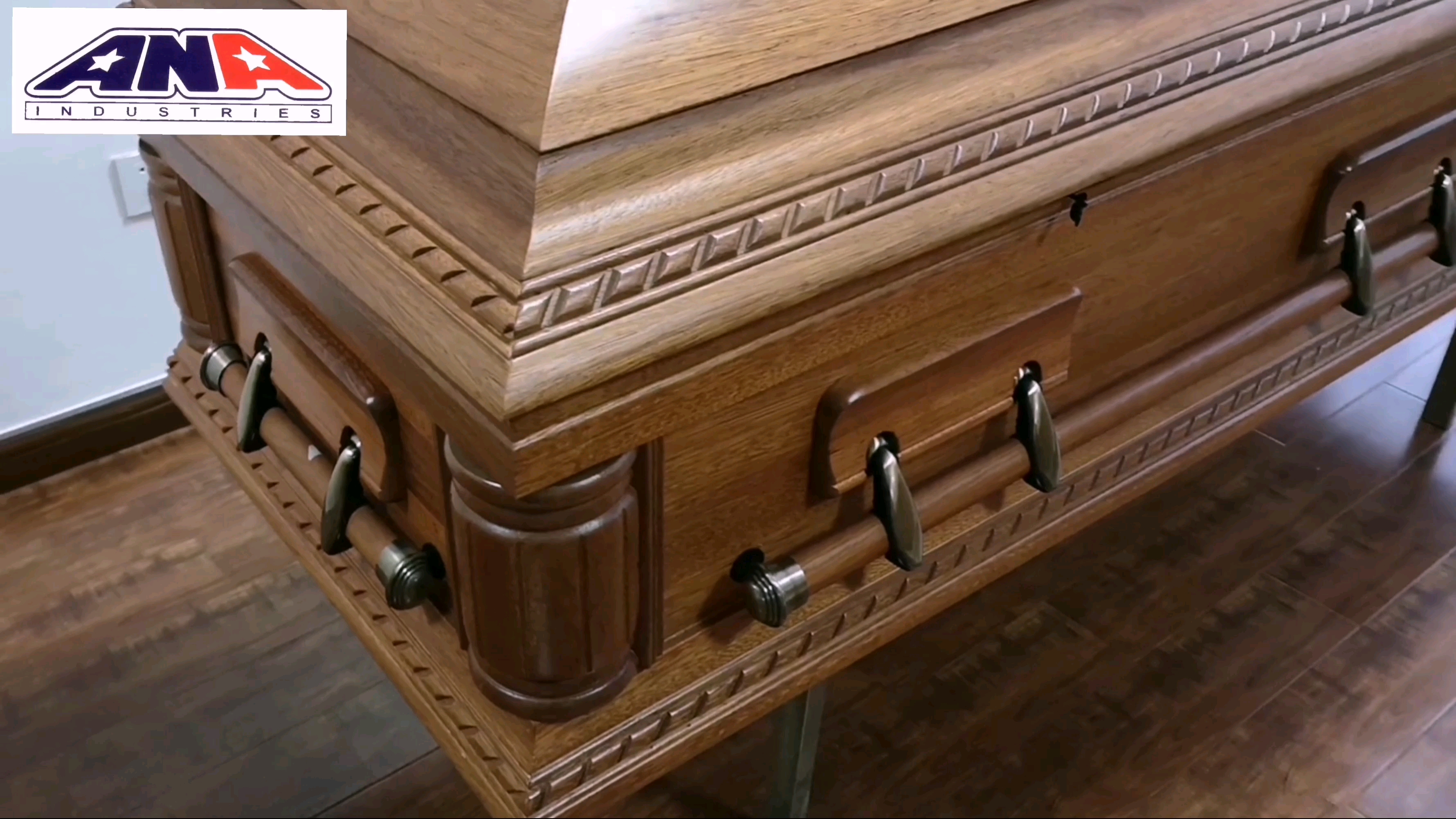ANA Funeral supplies Wood Oak Caskets Made in China