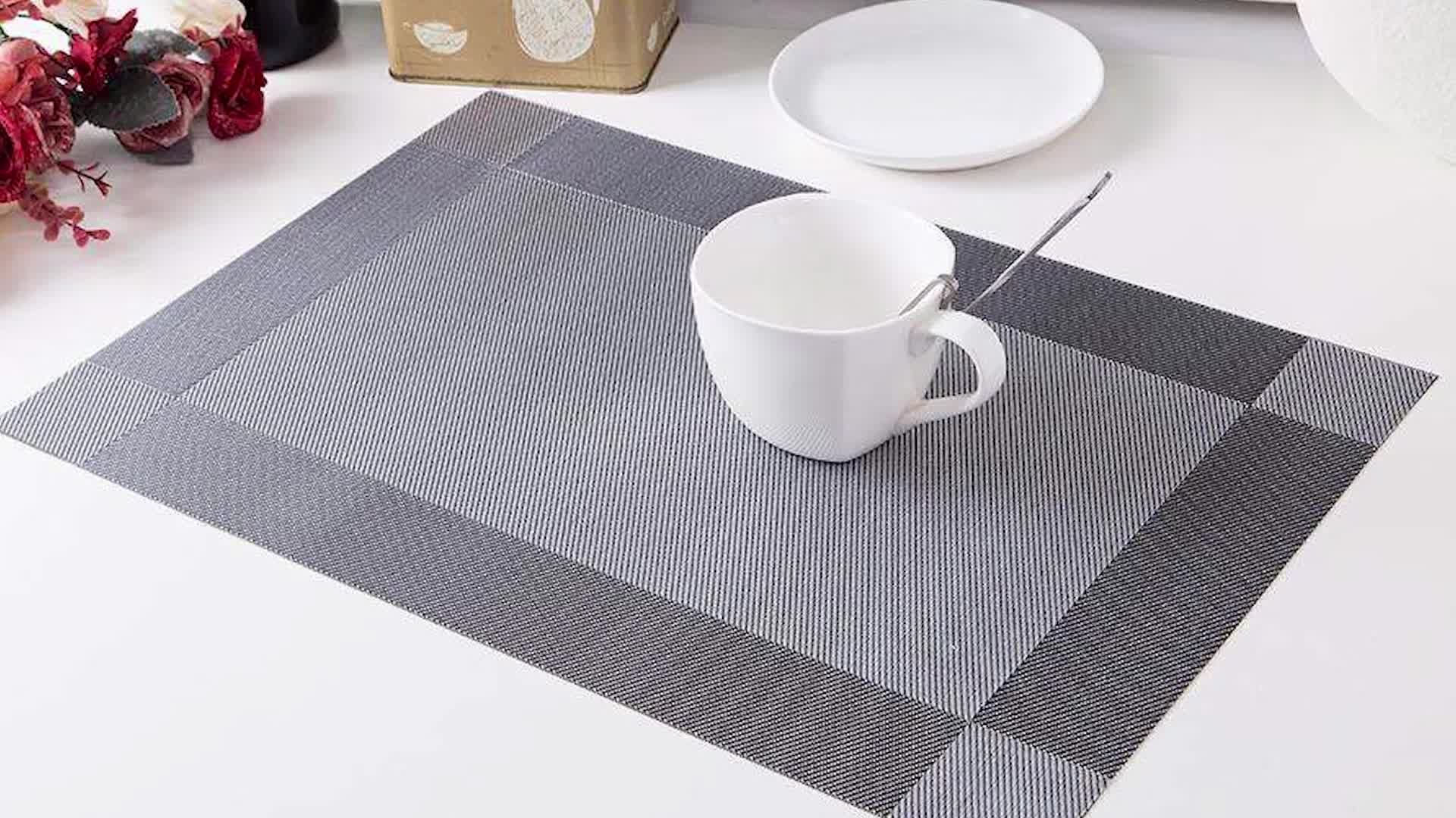 Non Slip Placemat Washable Table Mats PVC Dining Mat,waterproof, Table Mats  For