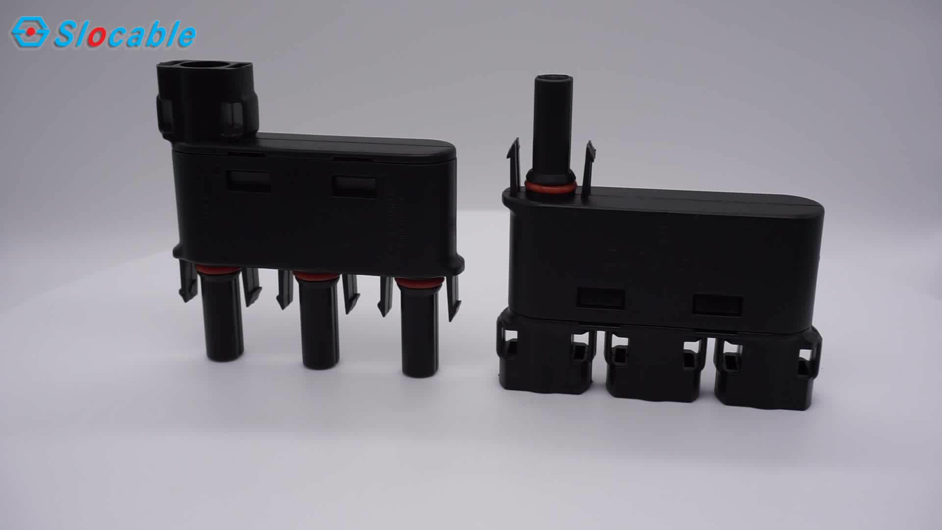 IP68 3 in 1 PV Solar Connectors Branch Connector for Extension Cables