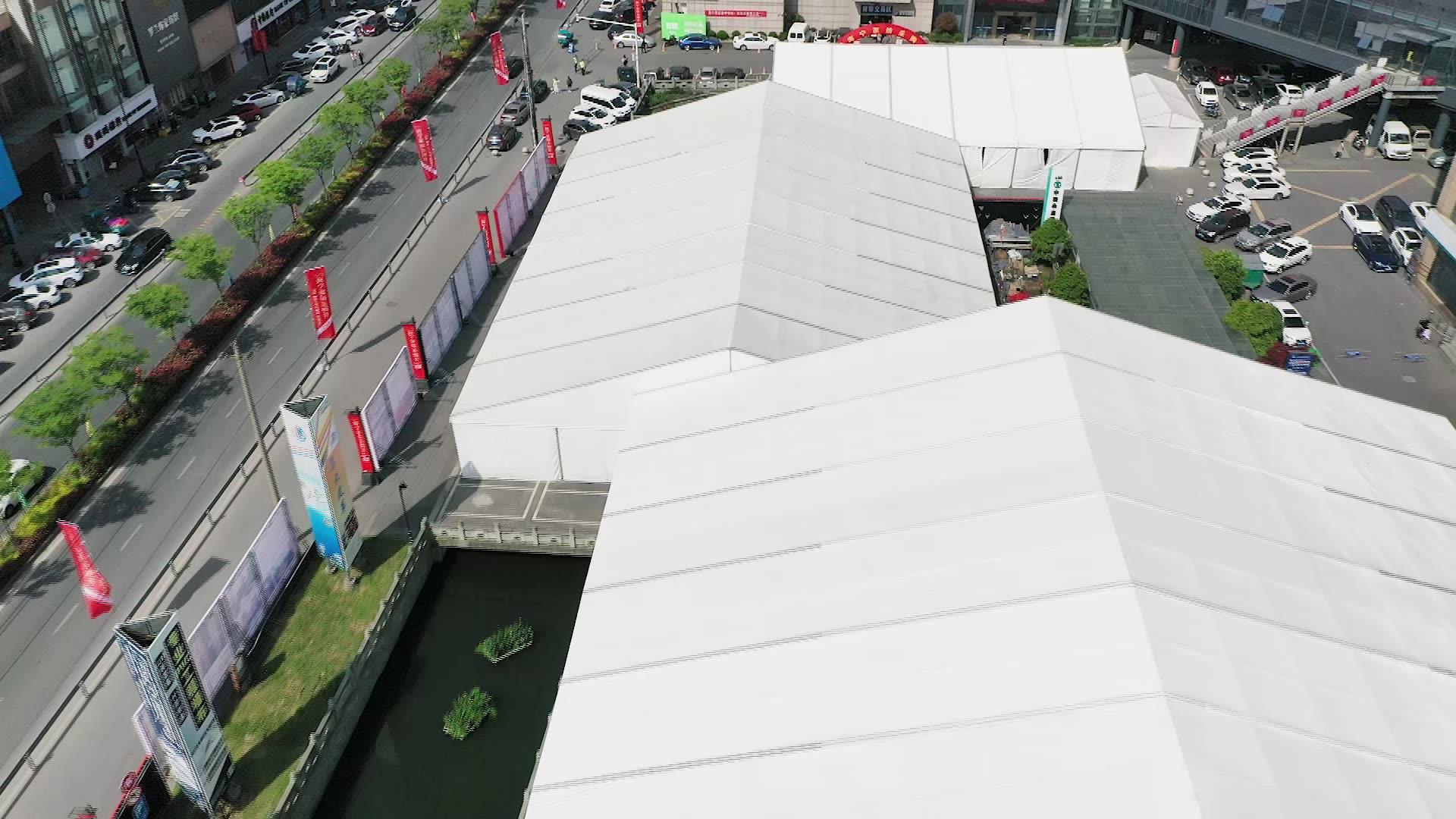 30x50m الهيكل الصلب تخزين صناعي خيمة المستودع