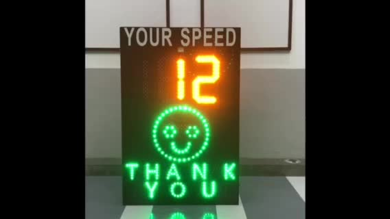 Emoj Face Speed Indicator Device driver feedback signs road speed signs radar speed sign