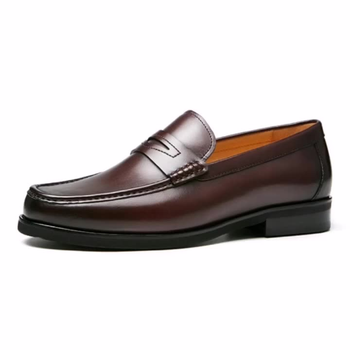 Mens Formal Oxfords Leather Shoes Dress Business Office Casual Slip On Loafers