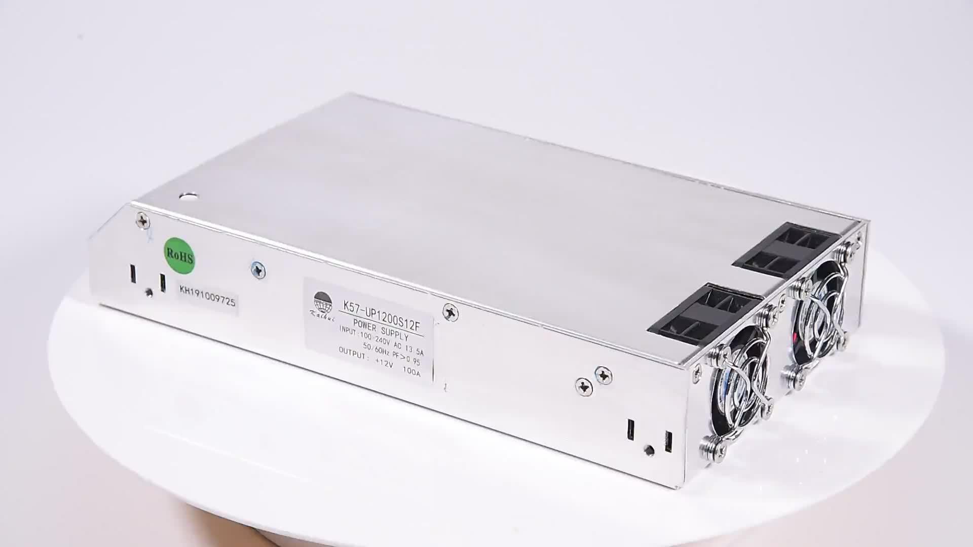 94% Hiệu Quả Đầu Ra Duy Nhất Công Suất Cao 1200 W 12 V DC 100A PSU Chuyển Mạch Cung Cấp Điện
