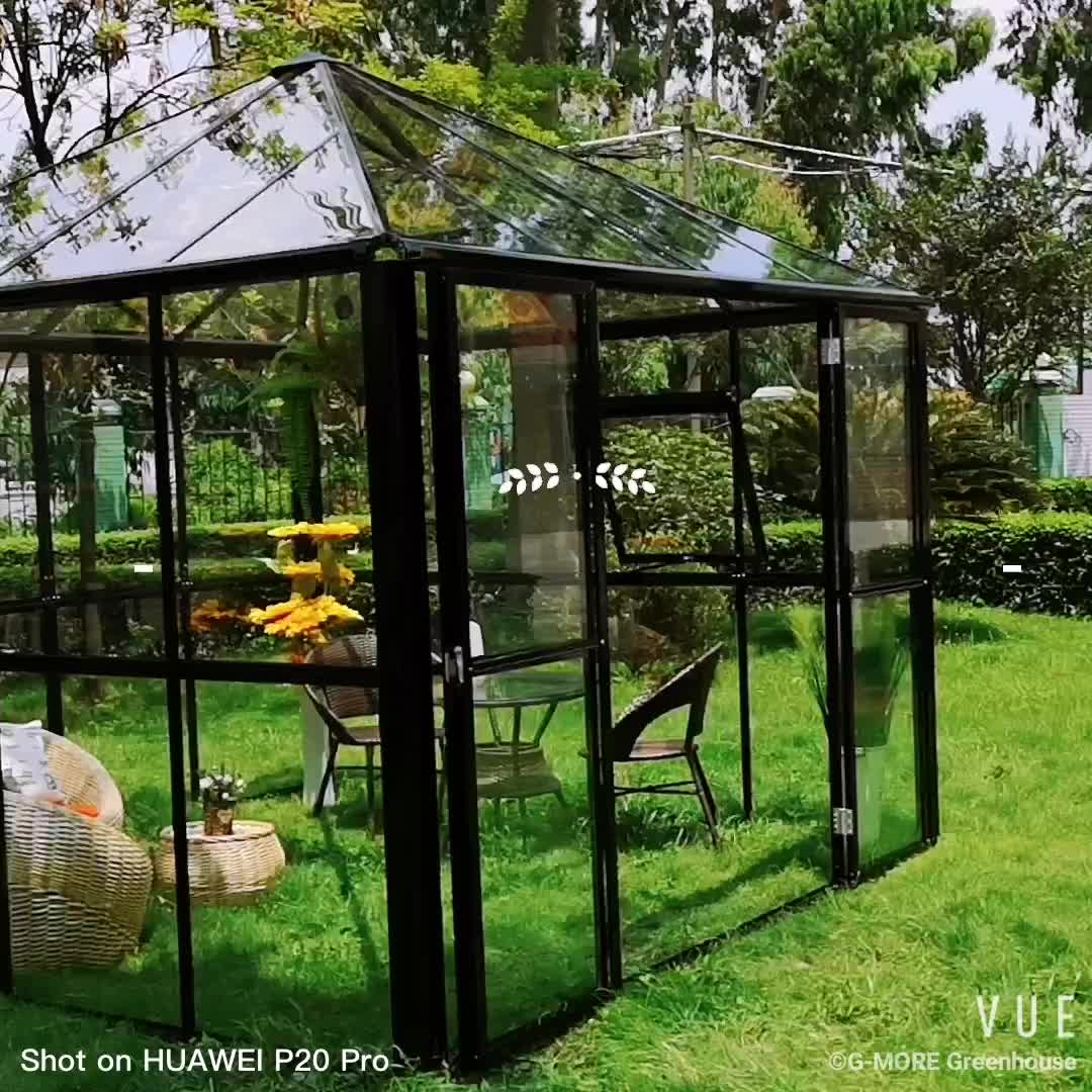 Luxury prefabricated spa aluminium garden glass gazebo 3x3 outdoor manufacturers