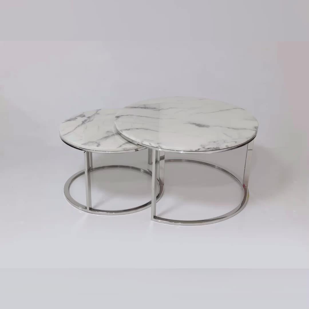 Designer kaffee tisch moderne marmor top für home möbel