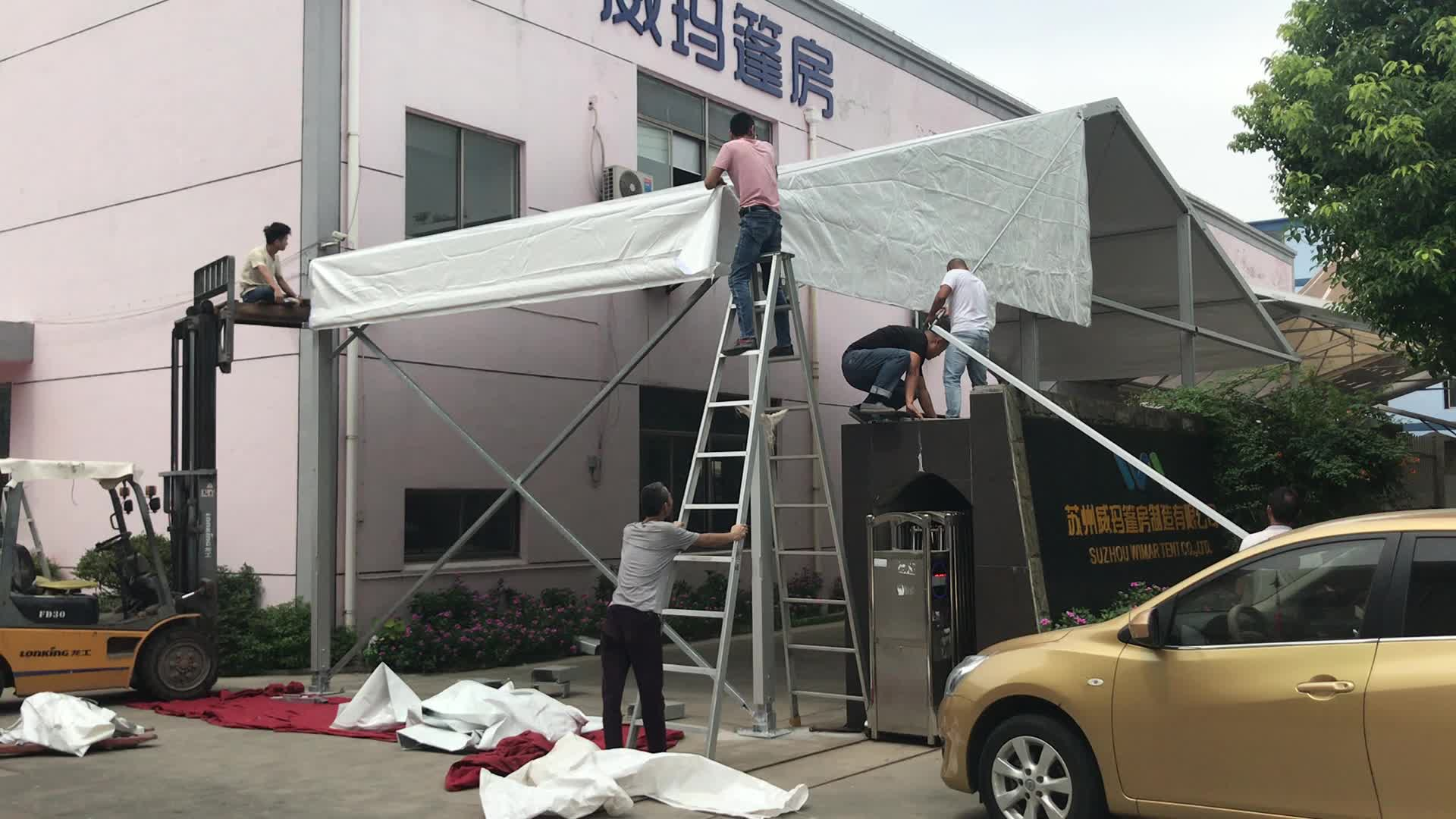 15x25m Aluminum Luxury Outdoor Wedding Event  Party Marquee Tents for 300 People
