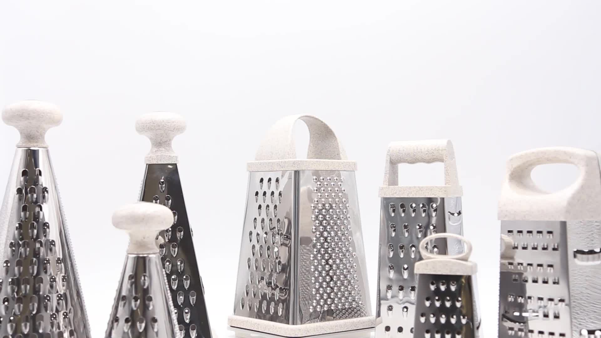 2019 New 6 Sides Multifunctional Stainless Steel Grater For Fruit And Vegetable